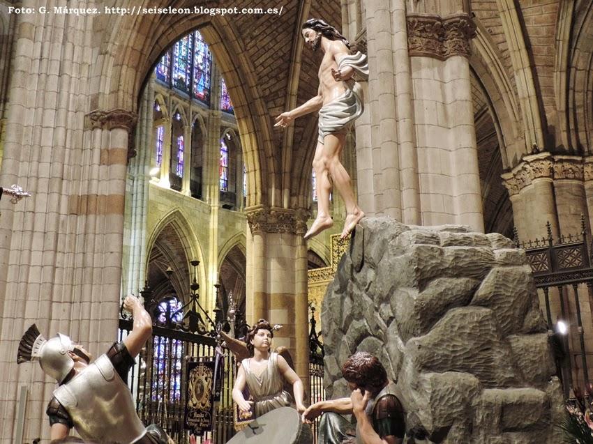 La Resurrección. Real hermandad de Jesús Divino Obrero. León. Foto G. Márquez.