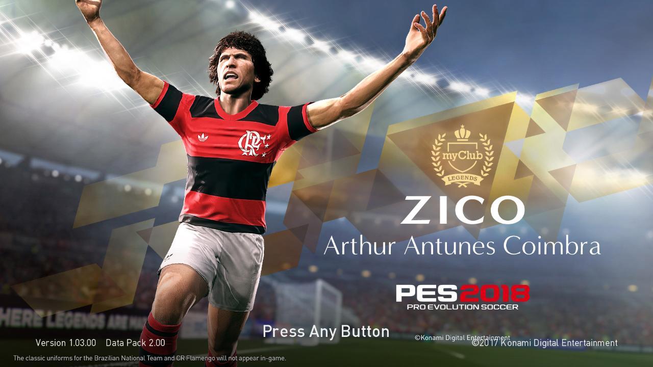 PES 2018 Zico Flamengo Startscreen by ABW