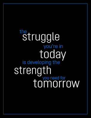 the struggle you are in today is developing the strength you need for tomorrow quote. Fitness, fashion, fuel, motivation, goal, process quotes