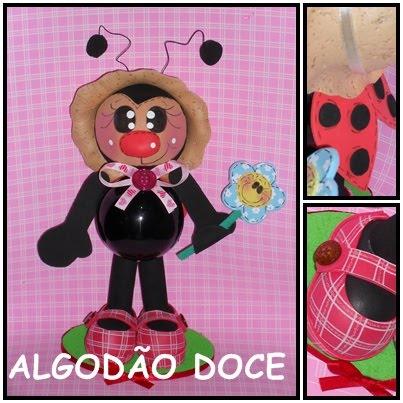 Joaninha Algodao Doce Molde Para Imprimir