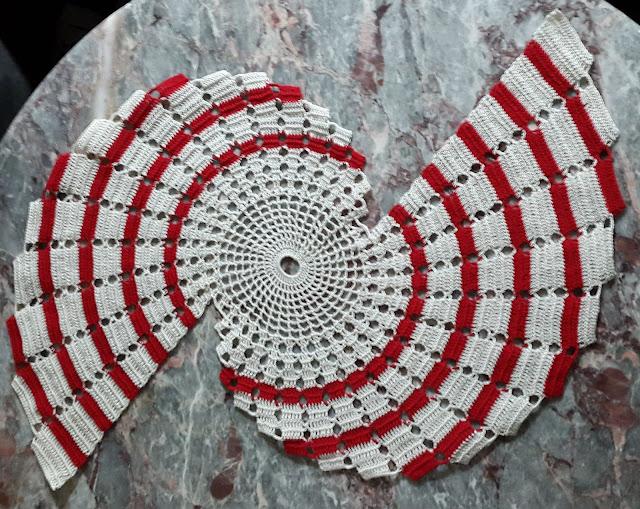 Federles Handarbeit Bastel Geschenke Muttertagsgeschenk Spiraldeckchen