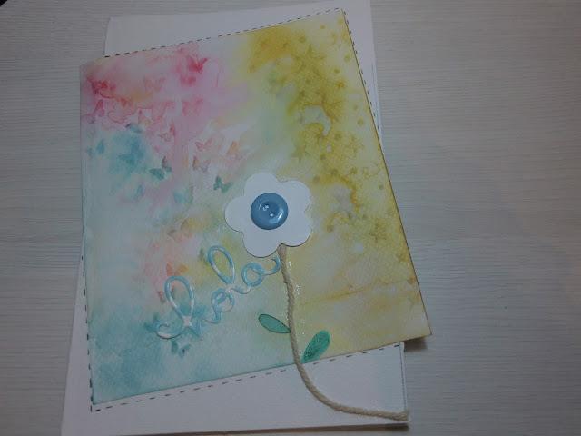 Primer plano de la tarjeta para Arantza con las dos hojas