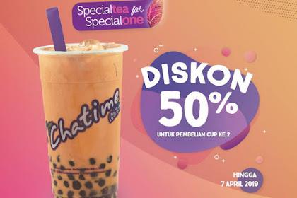 Promo Chatime Terbaru Hingga 7 April 2019 Diskon 50% Pembelian Cup Ke2