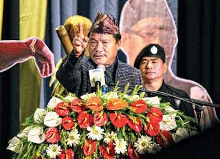 Bimal Gurung addressing Bhanu Jayanti