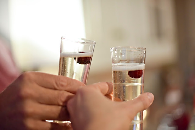 Over 40 Life and Style Champagne Toast in Charleston, SC
