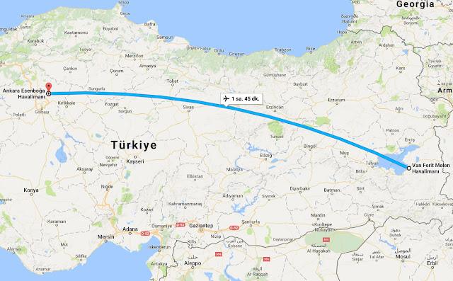 Van'dan Ankara'ya uçak bileti