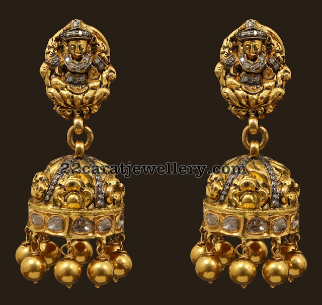 Antique Jhumkas with Gold Balls