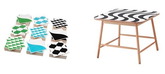 Ikea. Azulejos e mesa de centro.