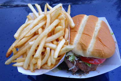 The State Champ burger with fries