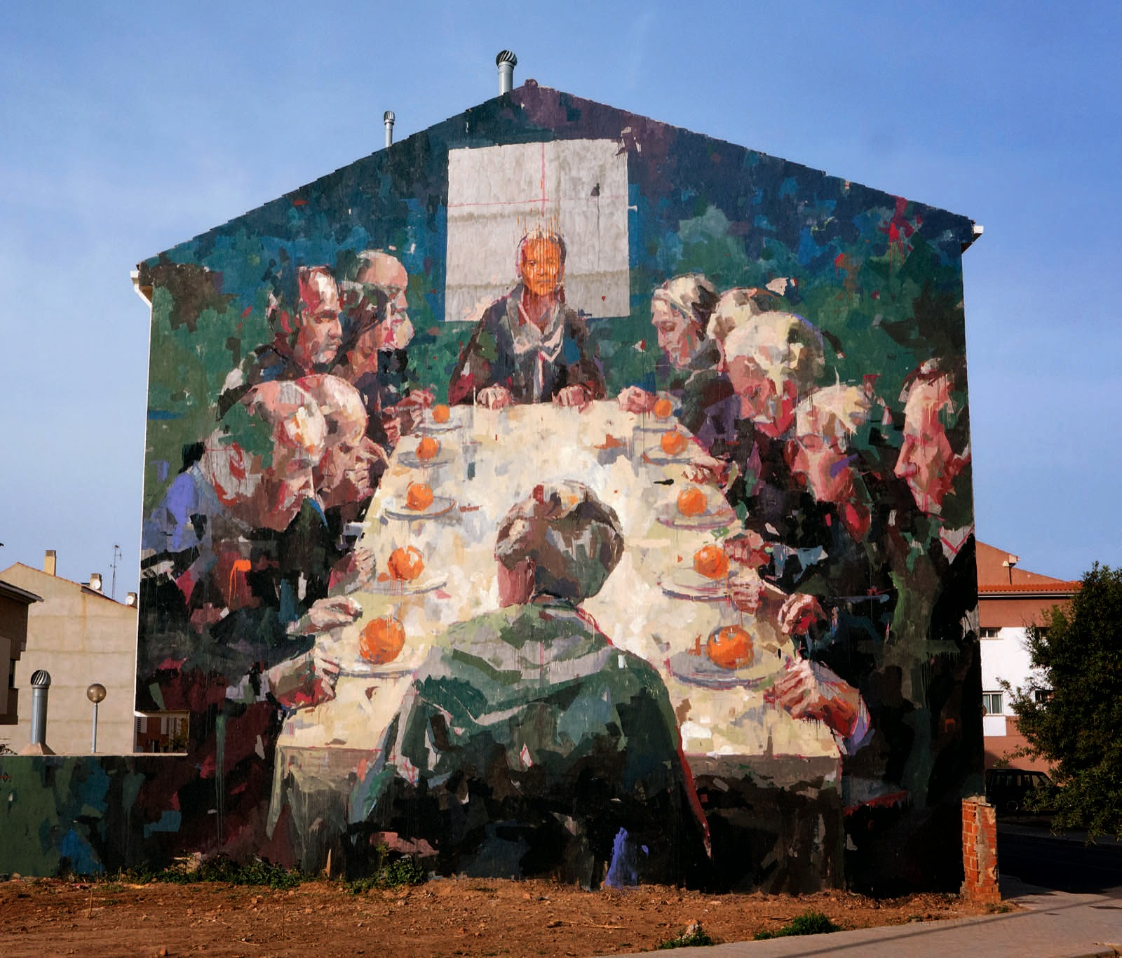 """While we last heard from him in London for his """"Animal"""" exhibition, Borondo is back in Spain where he just finished working on a new piece somewhere on the streets of Vila-Real."""
