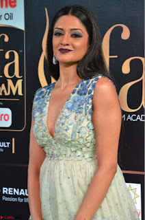 Vimala Raman in a Deep Neck White Shaded Sleeveless Gown ~  Exclusive 06.JPG