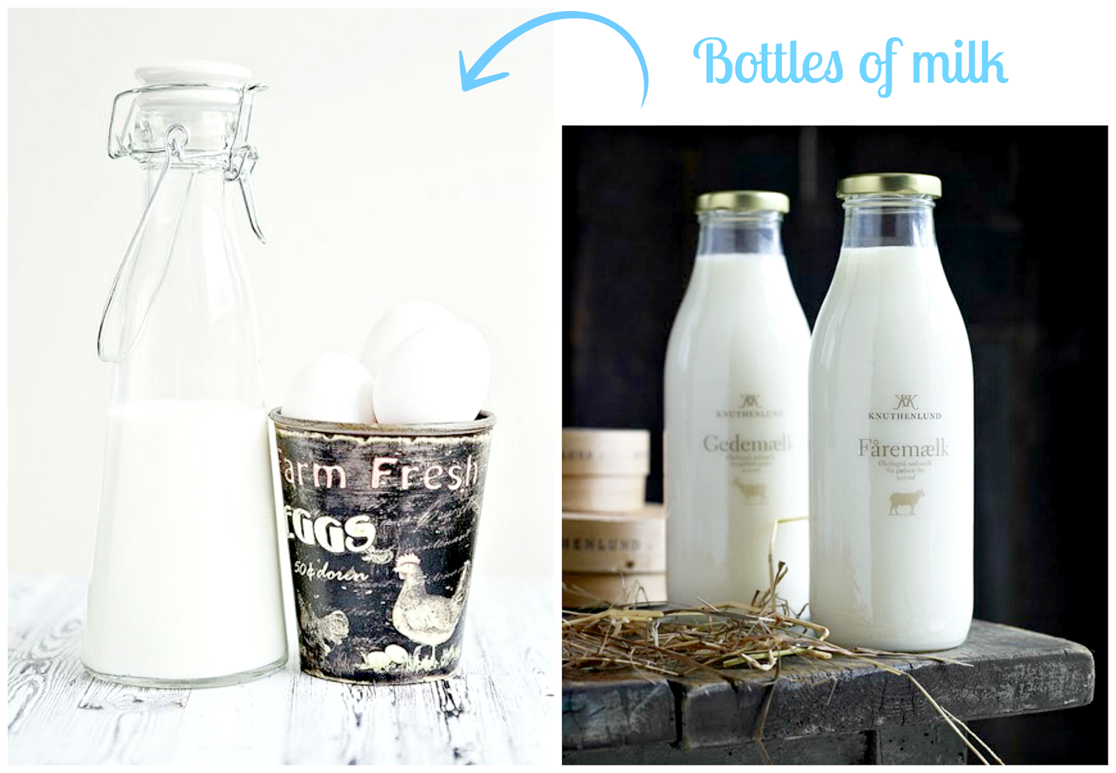 Flessen melk