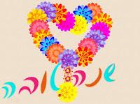 כרטיס ברכה לראש השנה פרחים בצורת לב