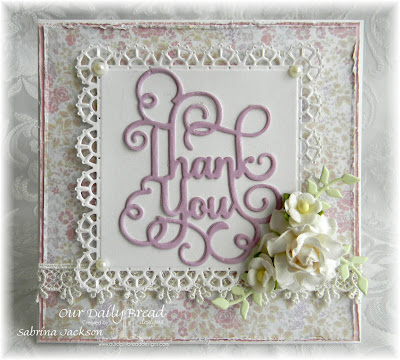Our Daily Bread Designs Custom Dies: Lovely Leaves, Thank You, Layered Lacey Squares, Our Daily Bread Designs Paper Collection: Easter Card Collection 2016