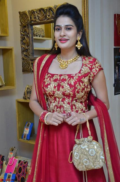 Jenny Honey in Stunning Dark Red Anarkali Dress at Splurge   Divalicious curtain raiser ~ Exclusive Celebrities Galleries 001.JPG