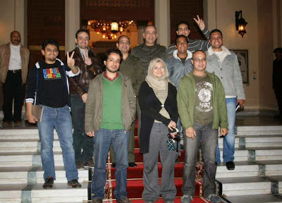 25th January activists with Abdel Fattah El-Sisi