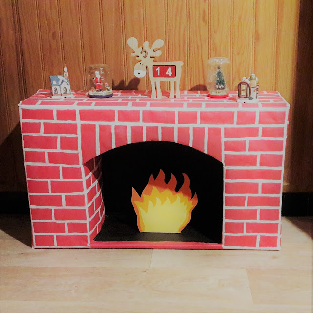 diy tutoriel fabriquer une cheminée en carton facile rapide noel