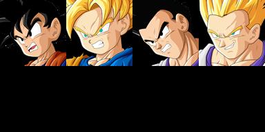 Graficos faciais Dragon Ball 1FGoten