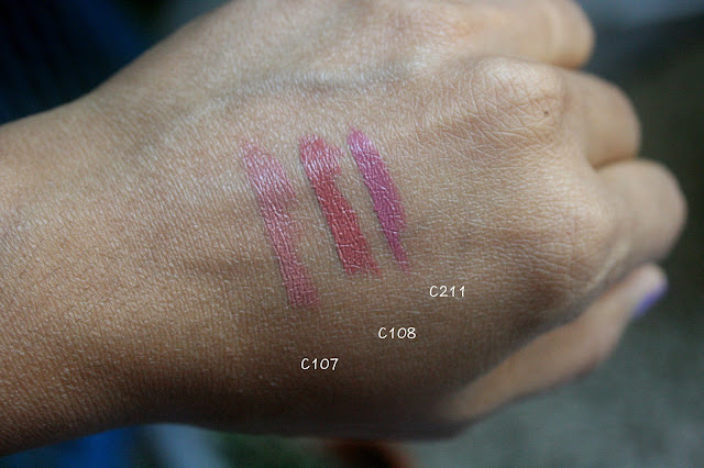 Make Up For Ever Artist Rouge Lipsticks |  C107, C108 & C211