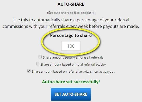 freebitcoin freebitco.in bitcoin faucet refback auto share satochi