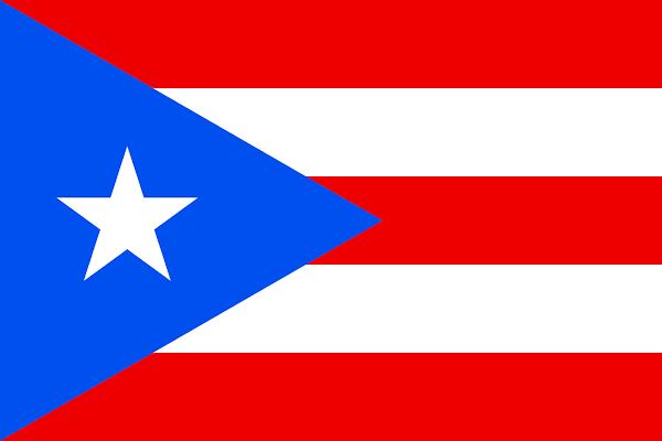 Logo Gambar Bendera Negara Puerto Riko PNG JPG ukuran 600 px