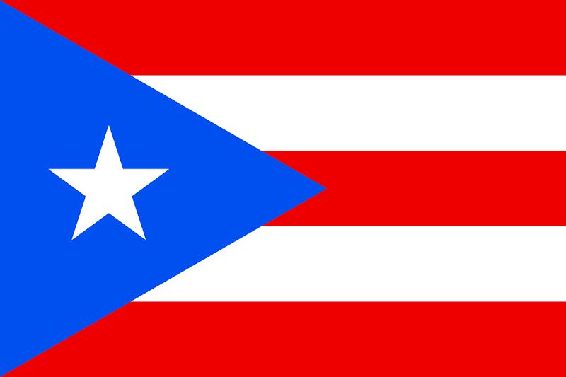 Logo Gambar Bendera Negara Puerto Riko PNG JPG ukuran 800 px