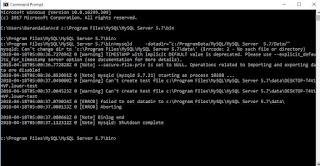 MySQL - Menjalankan MySQL Secara Manual