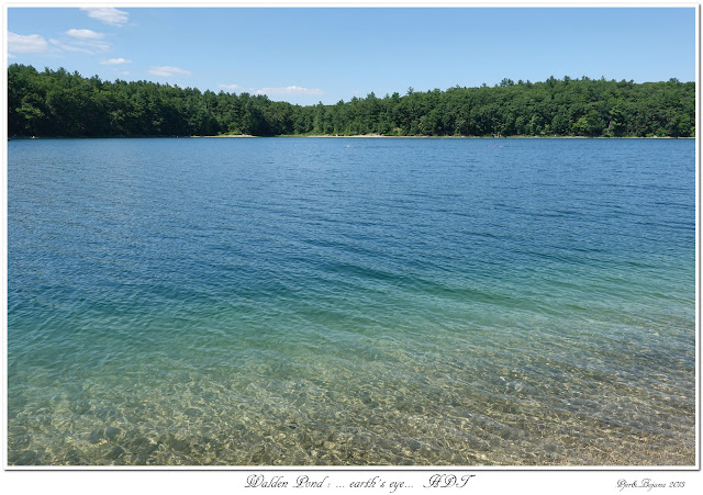 Walden Pond: ... earth's eye...  HDT