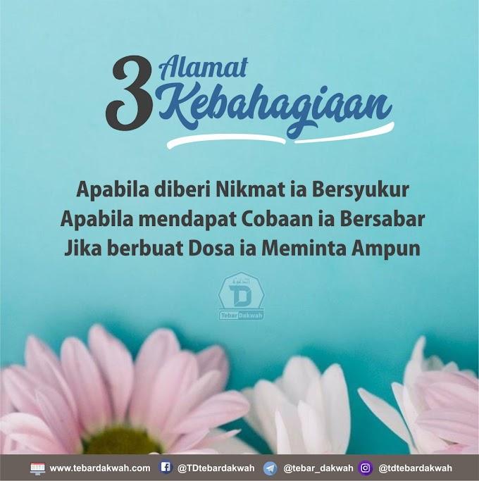 3 ALAMAT KEBAHAGIAAN