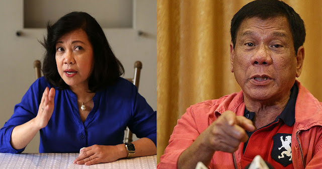 """Duterte kay Sereno: kindly fast track the impeachment. She is bad for the Philippines."""""""