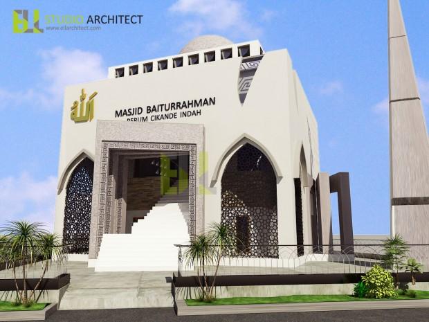 design dinding masjid