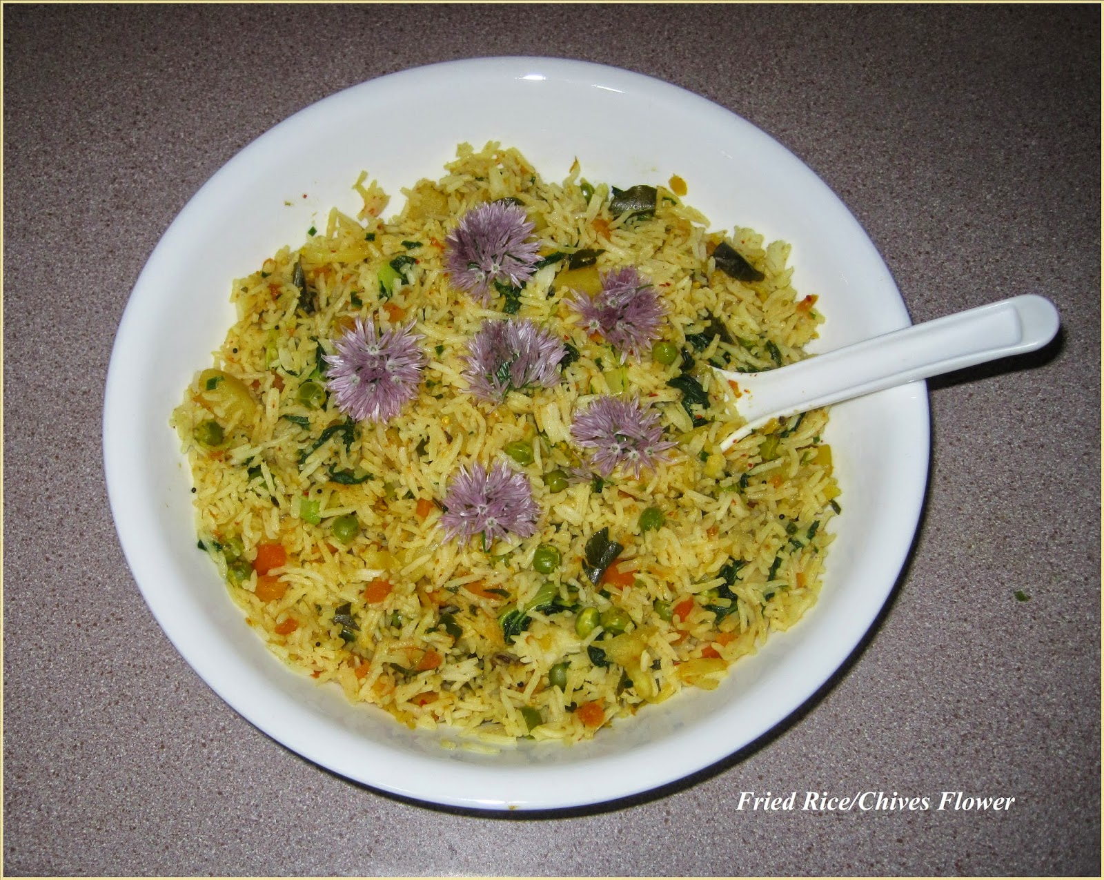 Ajantha's Food/Fried Rice with Vegetables and Chives