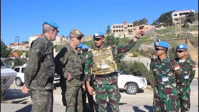 Delegasi Tentara Spanyol Kunjungi Satgas TNI Yonmek Konga XXIII-M/UNIFIL di Lebanon