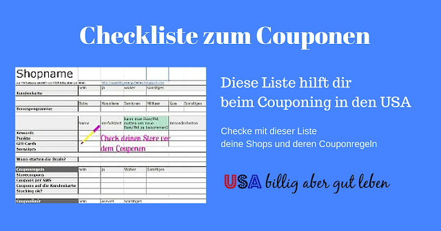 checkliste f r shops was du ber deinen laden als couponer wissen solltest usa billig aber. Black Bedroom Furniture Sets. Home Design Ideas