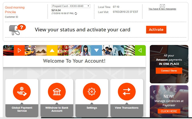 Make money online in Saudi Arabia and open Payoneer account
