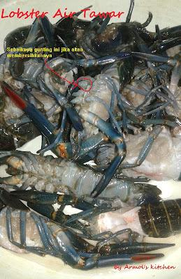 lobster air tawar