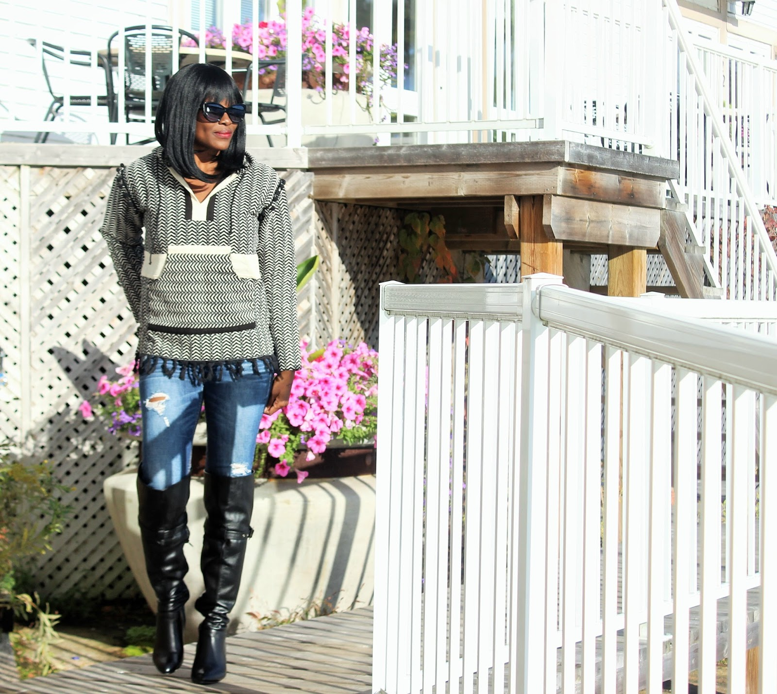 HOODIE + OVER THE KNEE BOOTS: FALL'S INSANELY POPULAR LOOK