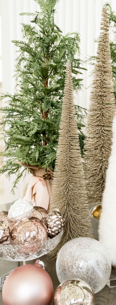 Rachel Parcell 36-Inch Glitter Bottle Brush Tree decor