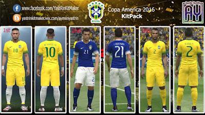 PES 2016 Brazil Copa America 2016 KitPack (Beta)
