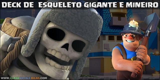Deck para Arena 7 com Esqueleto Gigante e Mineiro