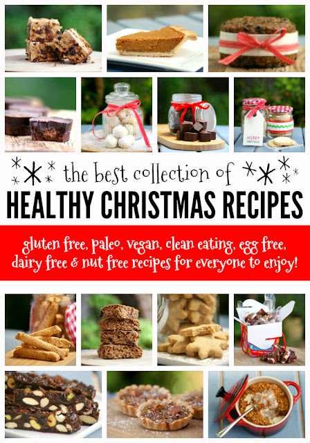 Easy Healthy Christmas Recipes - gluten free, paleo, vegan, clean eating recipes, low carb, snacks, dessert, breakfast, dinner. recipes for kids