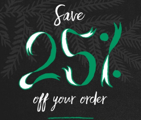 Starbucks Store Black Friday 25% Off