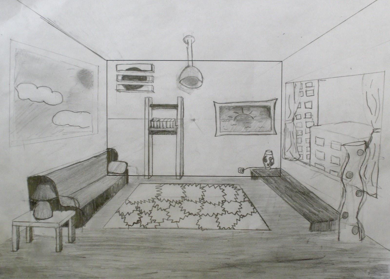 Studio Art With Ms Hopenwasser Grade 7 One Point Perspective