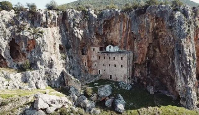 Μονή Αυγού στην Αργολίδα: Το μοναστήρι που καθηλώνει από την άγρια ομορφιά του (βίντεο drone)