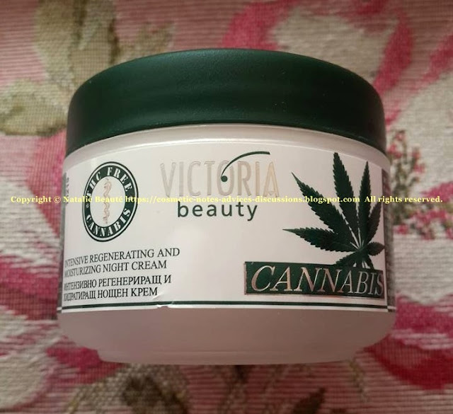 CANNABIS Night Cream by VICTORIA BEAUTY, PERSONAL PRODUCT REVIEW AND PHOTOS - NATALIE BEAUTE