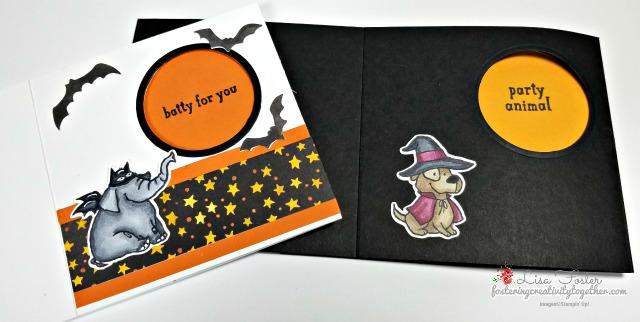 fancy fold, peek a boo card, trick or tweet, halloween