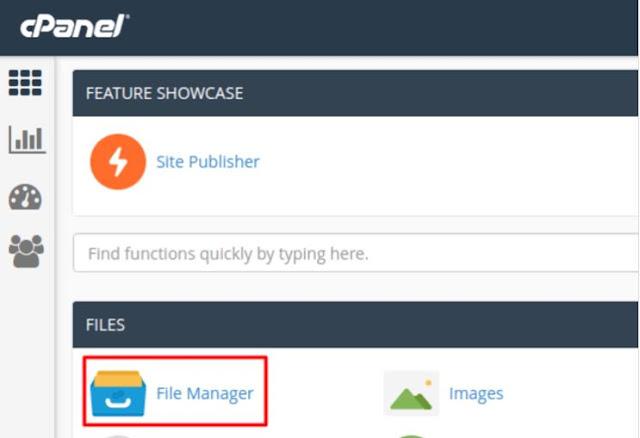 Upload file website via File Manager di cPanel