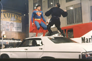 Christopher Reeve  as Superman Man of Steel vs Terence Stamp as General Zod in Superman 2 (1980)