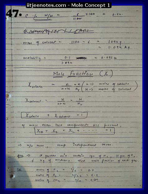 Mole Concept Notes IITJEE15