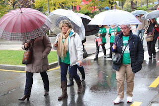 Manifestación de trabajadoras de residencias de ancianos